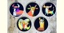 सजावट ❦ Hand Painted Nomad Wall Plates ❦ 26 { set of 5 }