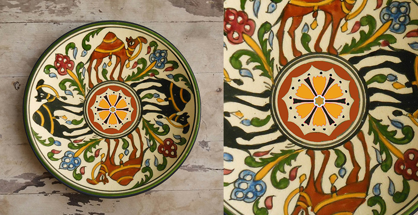 सजावट ❦ Hand Painted Arab Wall Plate ❦ 15