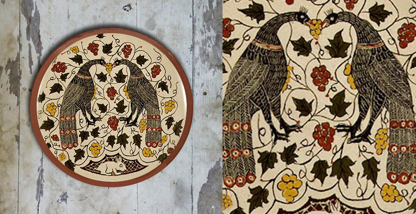 सजावट ❦ Hand Painted Balkan Wall Plate ❦ 8