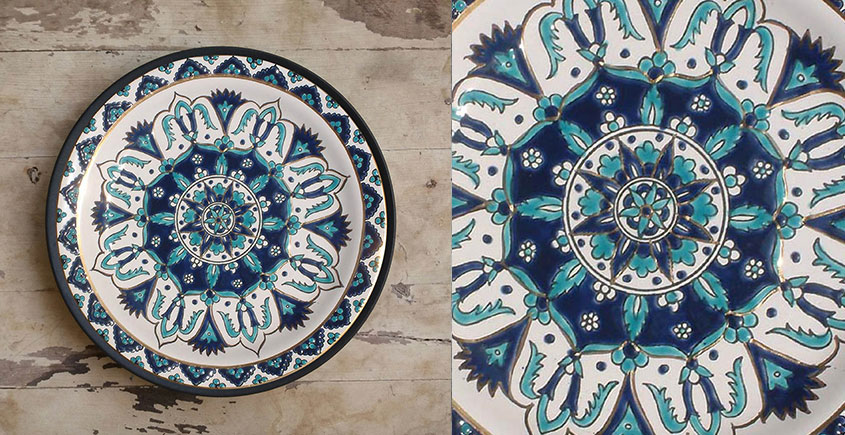 सजावट ❦ Hand Painted Balkan Wall Plate ❦ 10