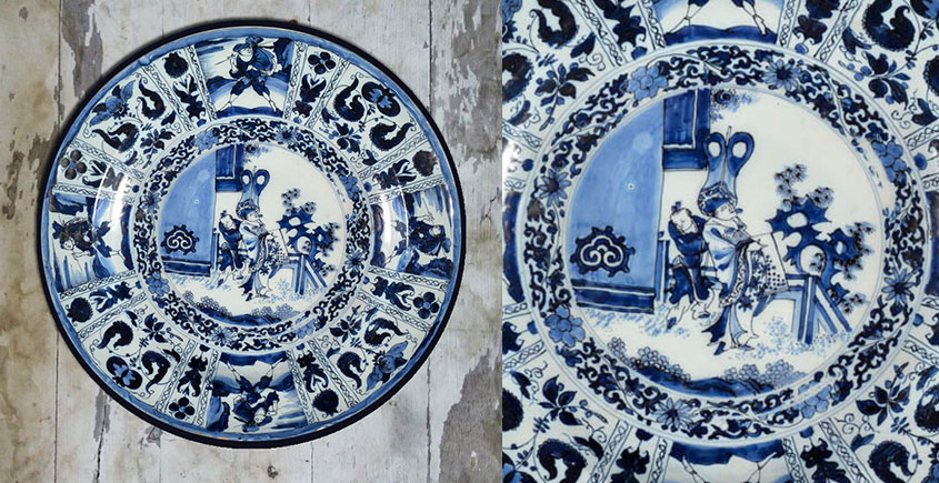 सजावट ❦ Hand Painted Chinese Wall Plate ❦ 13