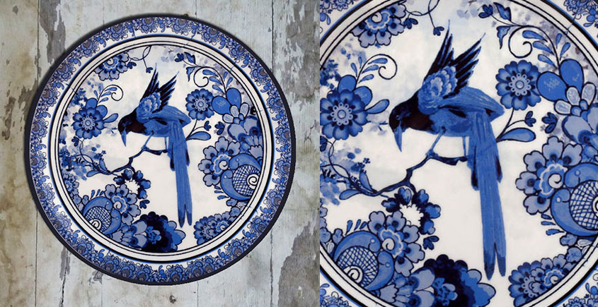 सजावट ❦ Hand Painted Dutch Wall Plate ❦ 9