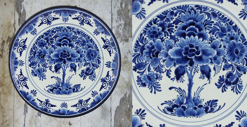 सजावट ❦ Hand Painted Dutch Wall Plate ❦ 11