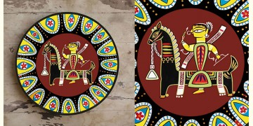 सजावट ❦ Hand Painted Madhubani Wall Plate ❦ 6