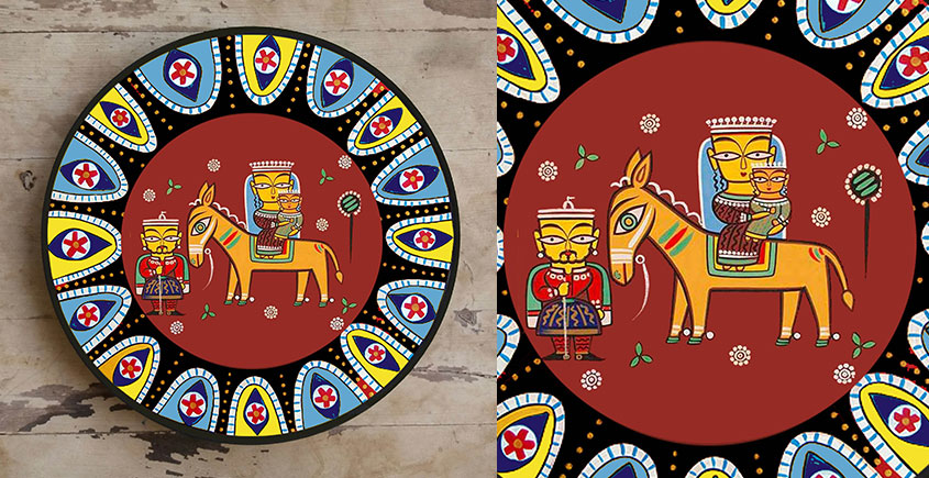 सजावट ❦ Hand Painted Madhubani Wall Plate ❦ 5