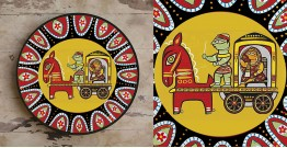 सजावट ❦ Hand Painted Madhubani Wall Plate ❦ 7