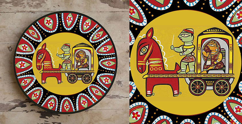 सजावट ❦ Hand Painted Madhubani Wall Plate ❦ 7