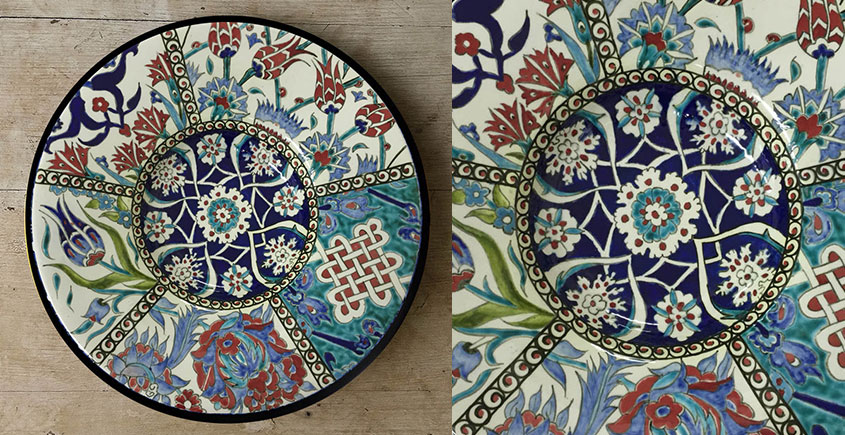 सजावट ❦ Hand Painted Turkish Wall Plate ❦ 3