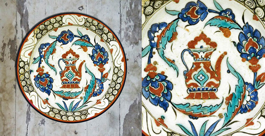 सजावट ❦ Hand Painted Turkish Wall Plate ❦ 2