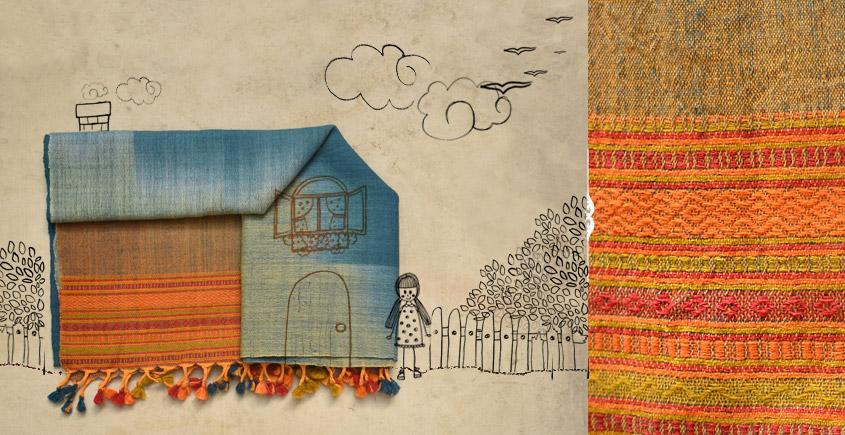 bhujodi woolen tie & dye stole