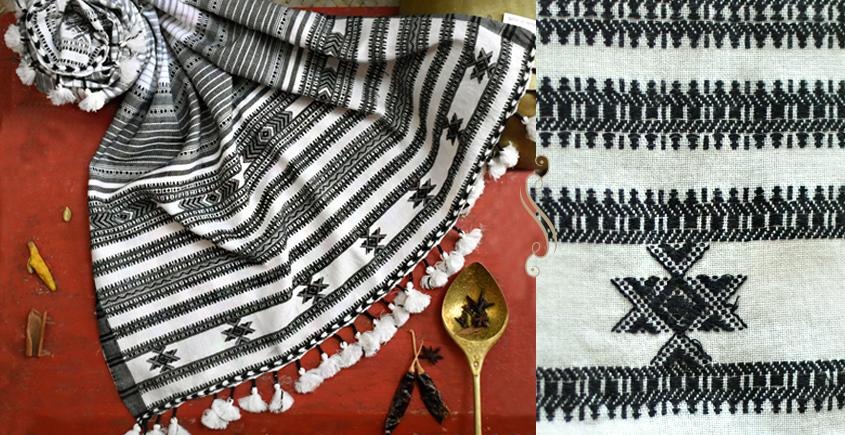 ओदन   Odan ✥ Handwoven ✥ Cotton Stole ✥ 4