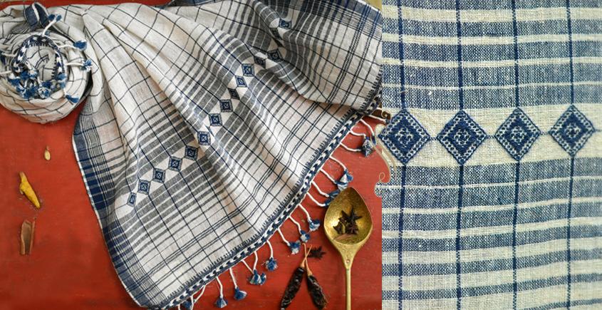 ओदन | Odan ✥ Handwoven ✥ Kala Cotton Stole ✥ 9