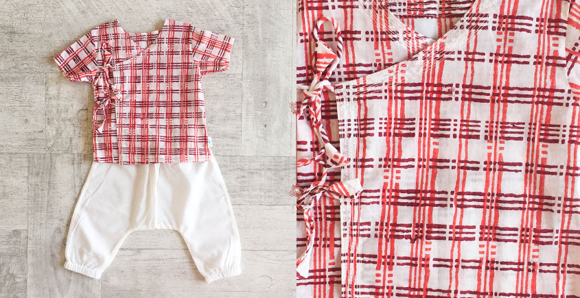 Block Printed . Organic Cotton . Kids Garment ★ 3