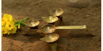 पीतल. Brass ~ Diya { for five }