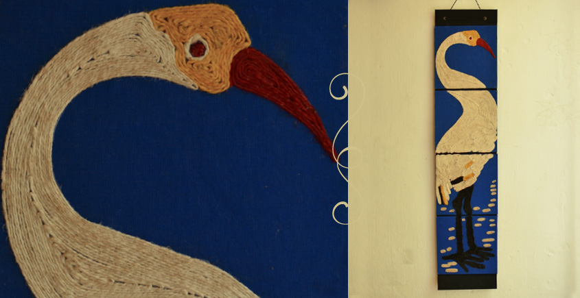 Jute Wall Art ~ Swan { Design 15 }
