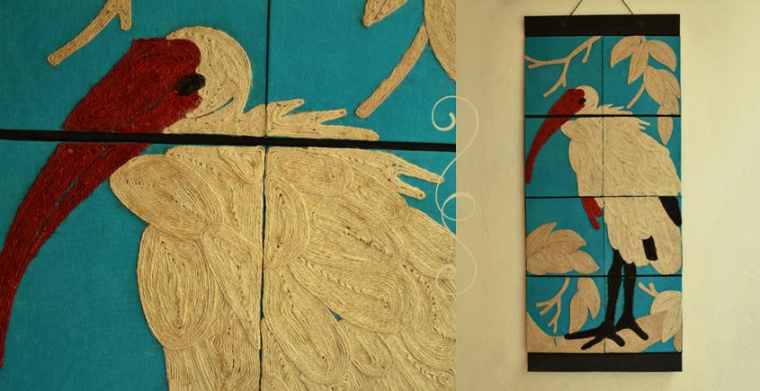 Jute Wall Art ~ Swan { Design 4 }