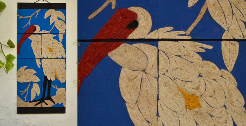 Jute Wall Art ~ Swan { Design H }