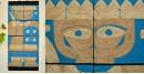 Jute Wall Art ~ Yodha { Design J }