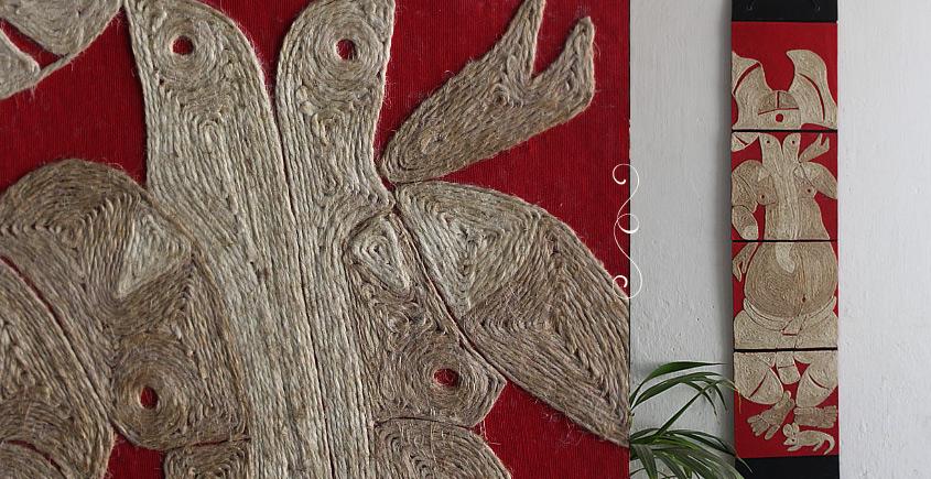 Jute Wall Art ~ Ganesha { Design D }
