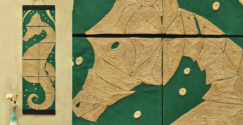 Jute Wall Art ~ Sea Horse { Design N }
