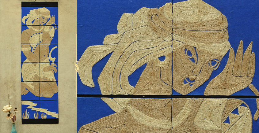Jute Wall Art ~ Tribal Women { Design O }