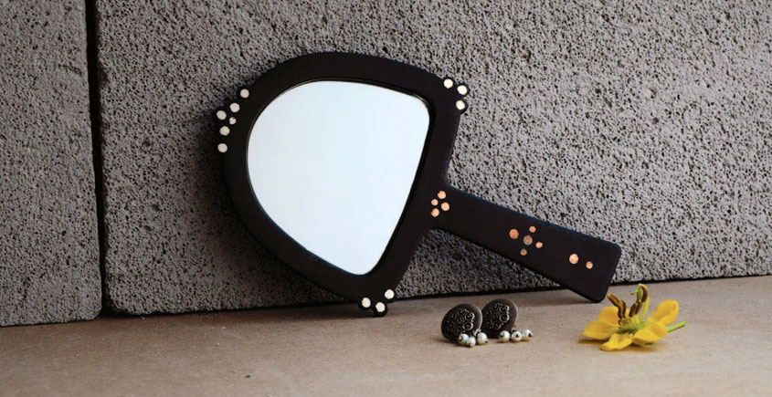 Bejewel Hand Mirror -{ Arch }- 1