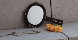 Bejewel Hand Mirror -{ Oval }- 1