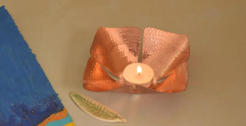 ताम्र ✤ Foliole Tea Light