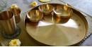 Tulsi Kansa Platter  (set)