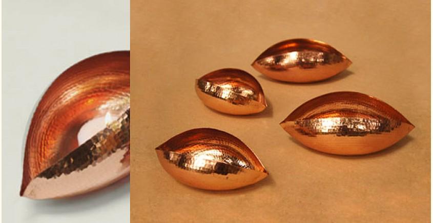 ताम्र ✤ Copper Pod Tea Light ~ Large