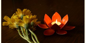 Courtyard ⚛ Lotus Orange Small Tea Light Holder ⚛ 46