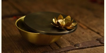 Courtyard ⚛ Ganga Antique Brass Nut Bowl ( Small ) ⚛ 25
