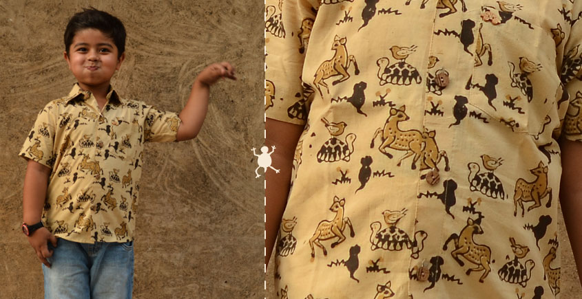 Children & Their Clothes ❢ Block Printed Shirt ❢ 3