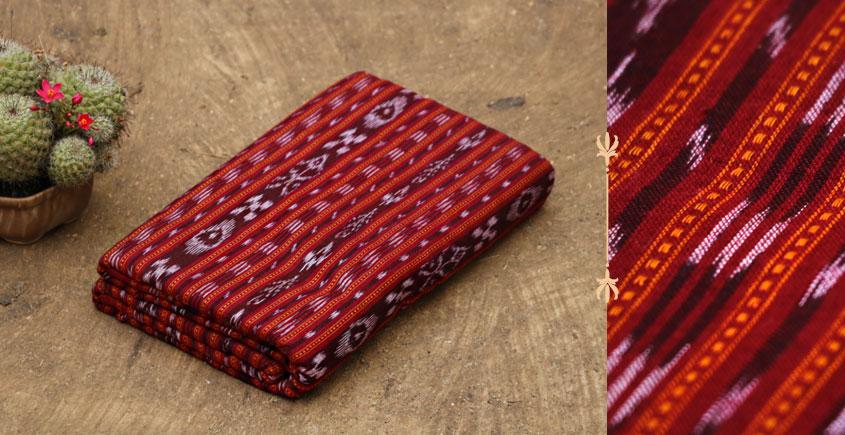 Sambalpuri Ikat ✽ Handwoven Cotton Fabric { 7 } { Per Meter }