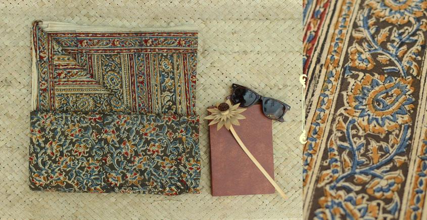 Saheli ☘ Natural Color . Block Printed . Kalamkari Saree ☘ 5