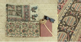 Saheli ☘ Natural Color . Block Printed . Kalamkari Saree ☘ 2