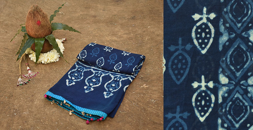 Navri ✼ Block Printed Cotton Dupatta { 19 }