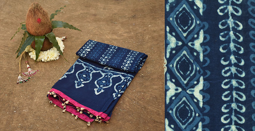 Navri ✼ Block Printed Cotton Dupatta { 20 }