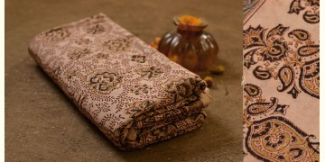 बेला ✤ Kalamkari Motif . Block Printed . Cotton Saree ✤ D