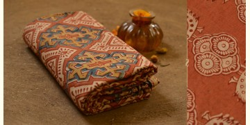 बेला ✤ Kalamkari Motif . Block Printed . Cotton Saree ✤ L