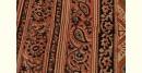 बेला ✤ Kalamkari Motif . Block Printed . Cotton Saree ✤ L