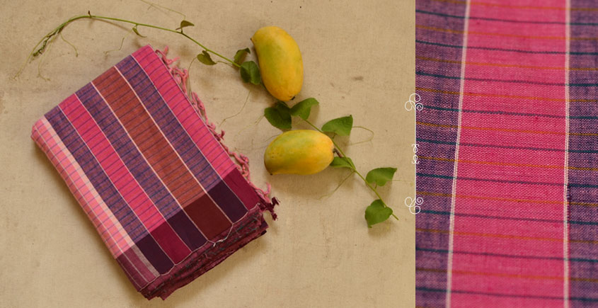 The Yellow Paisley ❦ Gamcha Cotton Sarees ❦ M