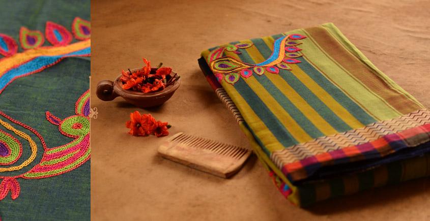 संजोग ⚵ Narayanpet Cotton Saree + Kutch Embroidery ⚵ 4