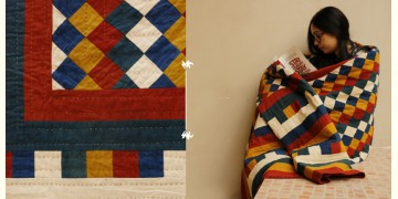 Quilt - Cotton - Embroidery { Double bed } A