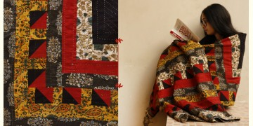 Quilt - Cotton - Embroidery { Double bed } B
