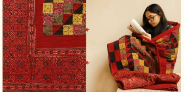 Quilt - Cotton - Embroidery { Double bed } C