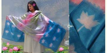 रंग महल ☙ Clamp dyed chanderi silk dupatta { कमल } ☙ 1