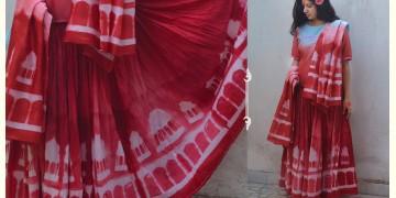 मलयज ☔ Clamp-Dyed Lehanga Choli And Skirt { Set Of 3 } महल ☔ 18