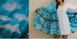 मलंग ☙ Chanderi Silk Clamp dyed Dupatta { आसमान } ☙