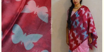 मलंग ☙ Chanderi Silk Clamp dyed Saree { तितली } ☙